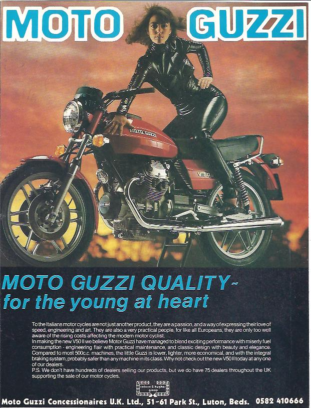 MOTO GUZZI - V50 - 1977 - ORIGINAL ADVERTISEMENT - A210