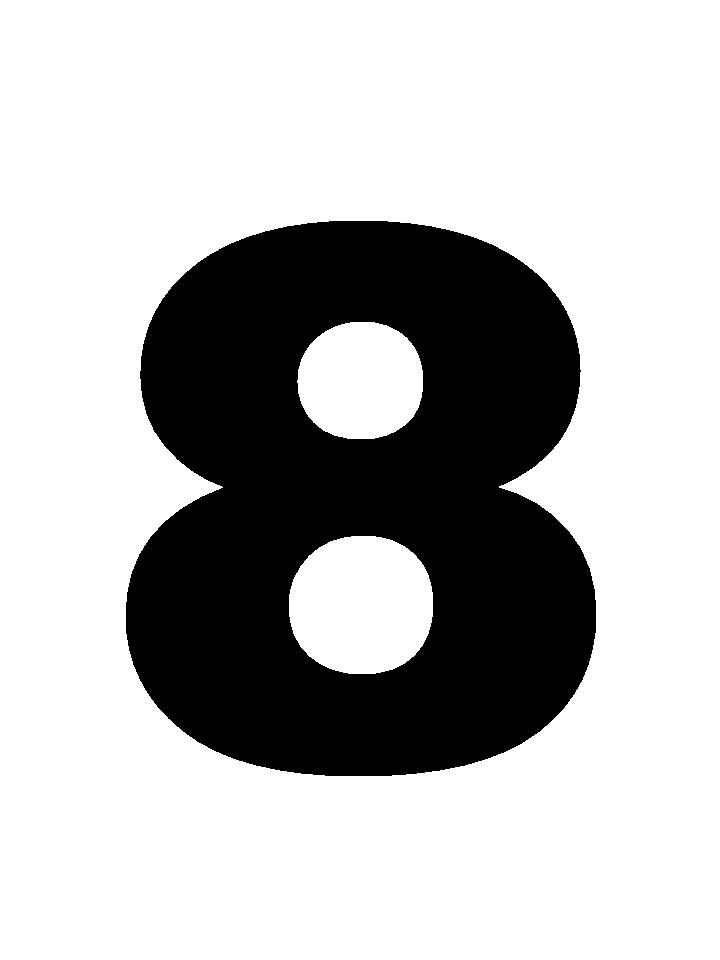 race number 8 numbers clipart letters black and white number clipart images