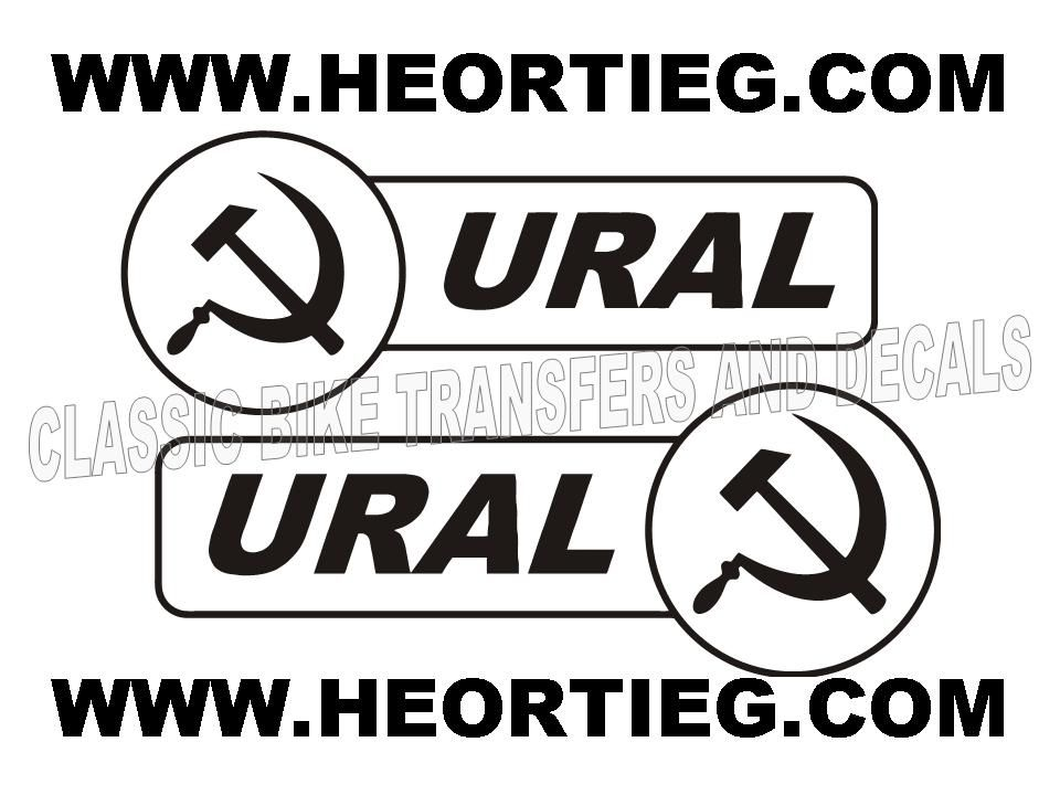 Ural Tank & Sidecar Transfers Decals Motorcycle DURAL4 Black White Auto Parts & Accessories Motorcycle Fairings & Bodywork